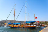 Moored yachts, Bodrum, Turkey — Stockfoto