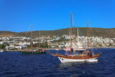 Moored yachts, Bodrum, Turkey — ストック写真