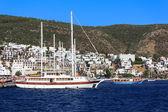 Jachty zacumowane, bodrum, turcja — Zdjęcie stockowe