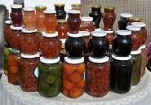 Sale of jams — Stock Photo