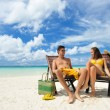 Couple on a beach — Stock Photo #5386733