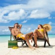 Couple on a beach — Stock Photo #5387036