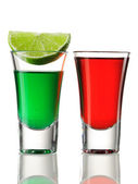 Shot drink cocktails — Stock Photo