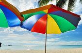 Plaj şemsiye — Stok fotoğraf