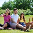Family on picnic — Stock Photo