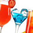 Tropical cocktails close-up — Stock Photo