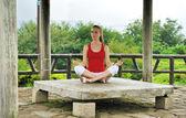 Yoga stijl — Stockfoto