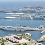 Yokohama harbour — Stock Photo