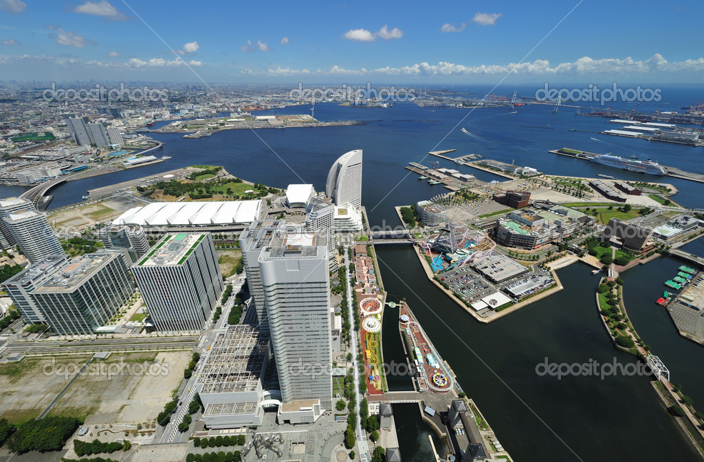 Yokohama Cityscape. No brand names or copyright objects. — Stock Photo #6639552