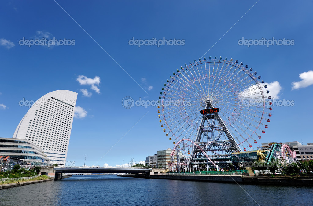 Yokohama Cityscape. No brand names or copyright objects. — Stock Photo #6639571