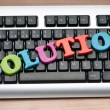 Solution concept with keyboard — Stock Photo #5414891
