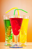 Colourful cocktail in glasses — Stock Photo
