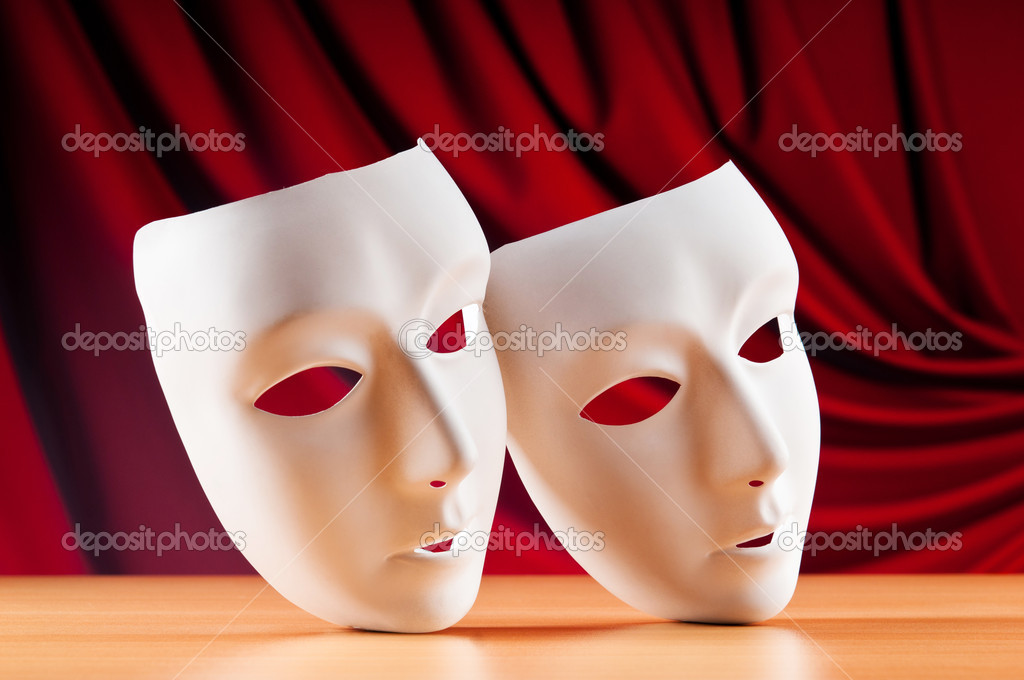 Masks with theatre concept  Stock Photo #5412828