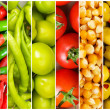 Collage of many different fruits and vegetables — Stock Photo #5549201