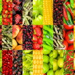 Collage of many different fruits and vegetables — Stock Photo #5549233