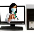 Doctor from computer screen - Healthcare or computer security co — Stock Photo #5549359