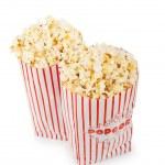 Popcorn bag isolated on the white background — Stock Photo