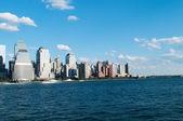 New york city - 4 sep - panorama met wolkenkrabbers — Stockfoto