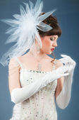Young bride in studio shooting — Stock Photo