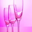 Wine glasses against gradient background — Stock Photo #5551405