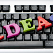 Ideas concept with letters on the keyboard — Stock Photo #5551631