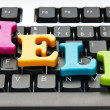 HELP concept with letters on keyboard — Stock Photo #5551733
