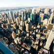 new york city panorama mit hohen wolkenkratzern — Stockfoto