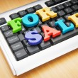 SALE word on the keyboard — Stock Photo #5586776