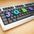 Stock Photo: Employment concept with words on keyboard