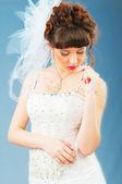 Young bride in studio shooting — Stock Photo