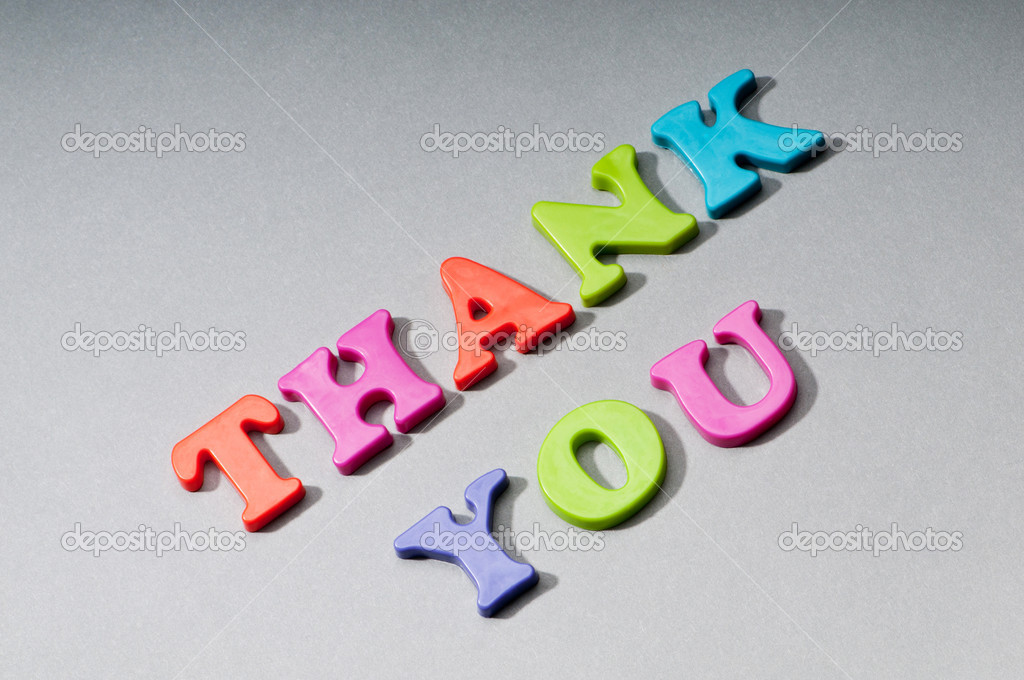 Thank you message on the background — Stock Photo #5582128
