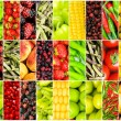 Collage of many different fruits and vegetables — Stock Photo #5592720