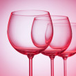 Wine glasses against gradient background — Stock Photo #5594454