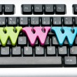 WWW letters on the keyboard — Stock Photo