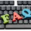 FAQ concept with letters on keyboard — Stock Photo #5594718
