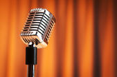 Audio microphone against the background — Stock Photo