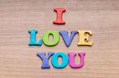 I love you words on the background — Φωτογραφία Αρχείου