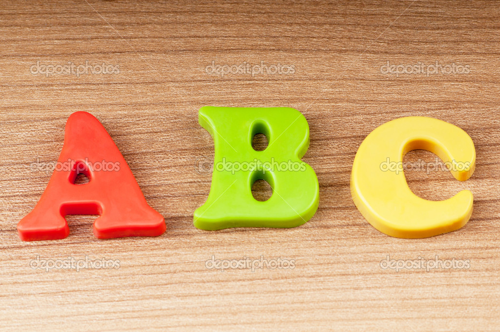 Early education concept with letters — Stock Photo #5597047