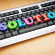 Solution concept with keyboard — Stock Photo #5600818