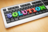 Solution concept with keyboard — Stock Photo