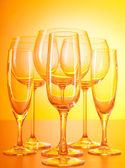 Wine glasses against gradient background — Stock Photo