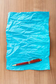 Pen on the sheet of paper — Stock Photo