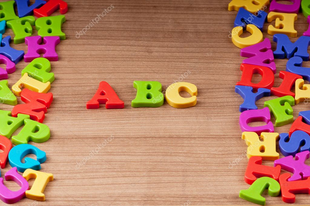 Early education concept with letters — Stock Photo #5608277