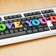 Stock Photo: I love you Dad words on the keyboard