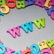WWW letters on the background — Stock Photo