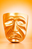 Theatre mask against gradient background — Stock Photo