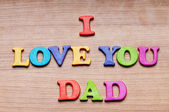 I love you Dad words on the background — Стоковое фото