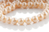 Pearl necklace isolated on white background — Stock Photo