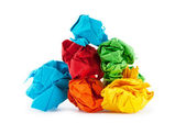 Paper recycling concept on white — Stock Photo