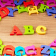 Photo: Early education concept with letters